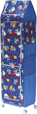 Amardeep Celebration PP Collapsible Wardrobe(Finish Color - Blue)