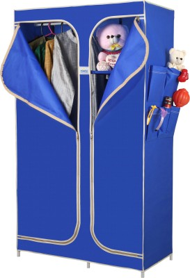 CbeeSo Stainless Steel Collapsible Wardrobe(Finish Color - Royal Blue)