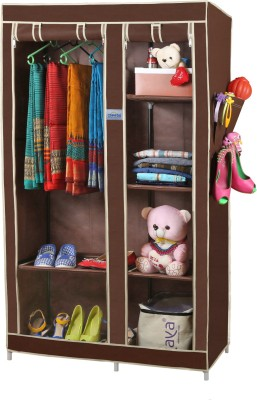 CbeeSo Stainless Steel Collapsible Wardrobe(Finish Color - Dark Brown)