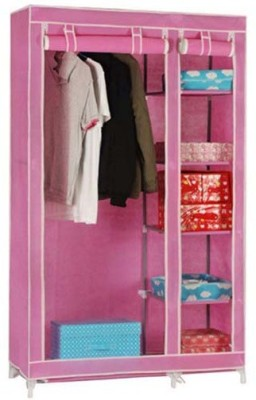 8ddf7682555 53% OFF on Anything   Everything Carbon Steel Collapsible Wardrobe(Finish  Color - PINK
