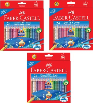 Faber-Castell Grip Triangular Shaped Color Pencils(Set of 3, Multicolor)  available at flipkart for Rs.1970