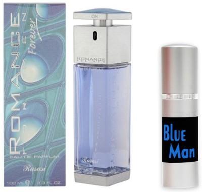 Rasasi Romance Man Perfume And Blue Man Combo Set(Set of 2)  available at flipkart for Rs.1299