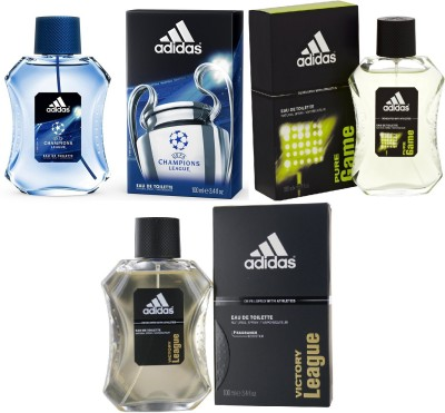 new style b6f86 78f94 30% OFF on Adidas Pure Game Edt 100 Ml Champions League Edt 100 Ml And  Victory League Edt For Men 100 Ml Gift Set Combo Set(Set of 3) on Flipkart  ...