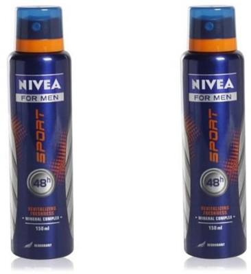 Nivea Sport Deodorant Spray Gift Set  Combo Set(Set of 2)