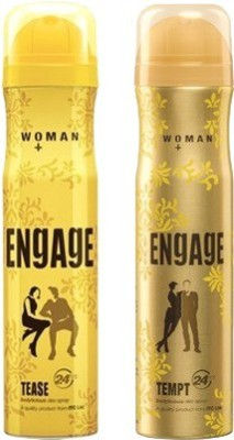 Engage Tease and Tempt Combo Set(Set of 2)  available at flipkart for Rs.347