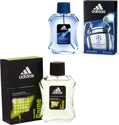 the latest 6eb67 bf5c9 15% OFF on Adidas Pure Game And Champions League Edt For Men 100 Ml Gift Set  Combo Set(Set of 2) on Flipkart   PaisaWapas.com