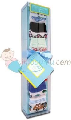 Baby Bucket Soft Cotton Socks Combo Set(Set of 1)