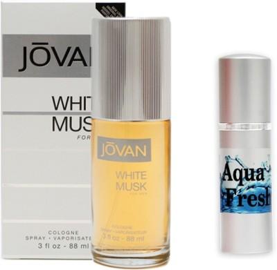 Jovan White Musk Perfume And Aqua Fresh Combo Set(Set of 2)