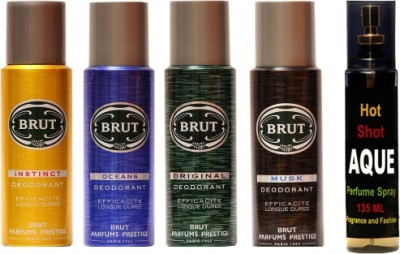 Brut Set of brut deo and perfume of Fragrance and Fashion Combo Set(Set of 5)