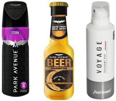 Park avenue Storm,Voyage,Damage Beer Shampoo Combo Set(Set of 3)