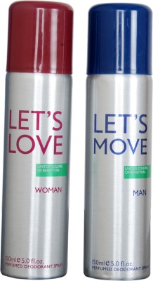 Benetton Lets Love lets moov Gift Set  Combo Set(Set of 2)