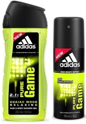 Adidas Pure Game 2-in-1 Shower Gel & Pure Game deo(Set of 2)  available at flipkart for Rs.345