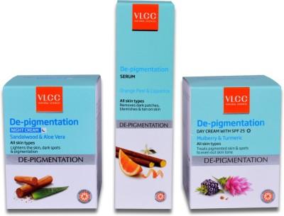 VLCC Snigdha Skin Whitening Day Cream & Skin Whitening Night Cream & Skin Whitening Serum(Set of 3)
