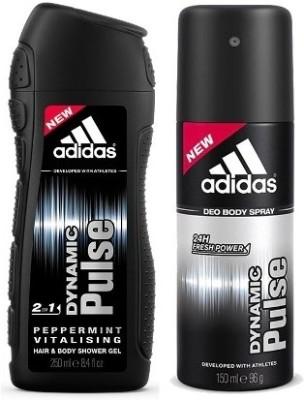Adidas Dynamic Pulse 2-in-1 Shower Gel & Dynamic Pulse deo(Set of 2)