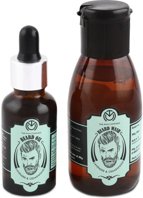 The Man Company Lavender & Cedarwood Beard Oil (30ml) & Wash Combo (100ml)(Set of 2)