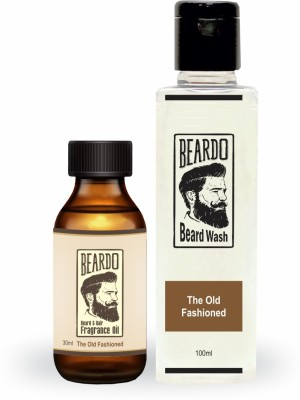 The Man Company Argan & Geranium Beard Oil (30ml) & Wash Combo (100ml)(Set of 2)