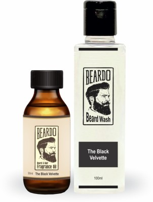 The Man Company Argan & Geranium Premium Beard Nourishment Kit - Beard Wash (100ml), Beard Oil (30 ml), Beard Wax (50gm)(Set of 3)