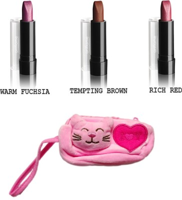 Oriflame Sweden Pure color lipstick 2.5g pack of 3 with carry pouch(Set of 3)  available at flipkart for Rs.523