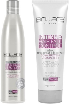 Brillare Science Hair Fall Control Shampoo & Intenso Creme Combo(Set of 2)