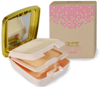 NYN New Fashion 2in1 Pressed Powder Compact  - 23 g(Beige)  available at flipkart for Rs.245