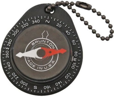 Brunton Key Ring Compass Compass(Black, White, Red)