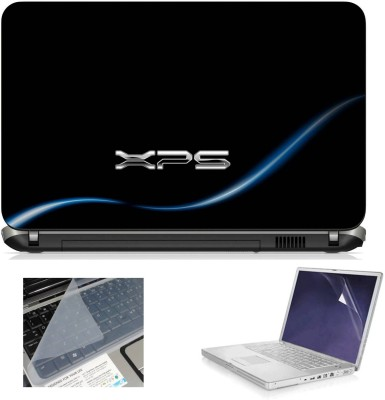 Geek xps gaming black 3in1 Laptop Skins with Laptop Screen Guard and Key Protector HQ1082 15.6 Inch Combo Set