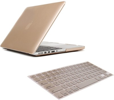 Saco MacBook 13.3 Retina Gold Case With Keyboard Skin Combo Set