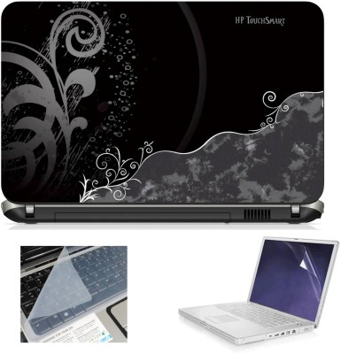 Geek Hp TouchSmart Black 3in1 Laptop Skins with Laptop Screen Guard and Key Protector HQ1082 15.6 Inch Combo Set