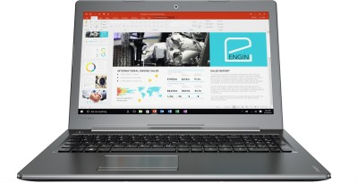 Lenovo Core i7 7th Gen - (8 GB/2 TB HDD/Windows 10 Home/4 GB Graphics) 510 Laptop(15.6 inch, Gun Metal, 2.2 kg)