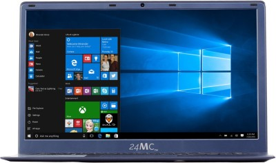24MC N Series Atom Quad Core 7th Gen - (4 GB/500 GB HDD/64 GB SSD/32 GB EMMC Storage/Windows 10 Home) N151 Ultrabook(15.60 inch, Blue, 1.9 kg)