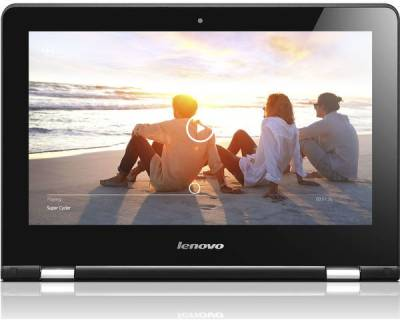 Lenovo Yoga 300 80M0007KIN Pentium Quad Core - (4 GB DDR3/500 GB HDD/Windows 10 Home) 2 in 1 Laptop (11.6 inch, Black)