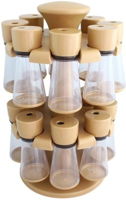 Capital 16 jar revolving spice rack 16 Piece Condiment Set Plastic
