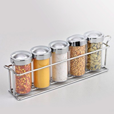 Eoan International 5 Piece Spice Set Silver Plated