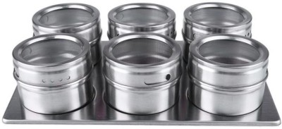 MK Stainless Steel Magnetic 7 Piece 7 Piece Spice Set(Stainless Steel) at flipkart