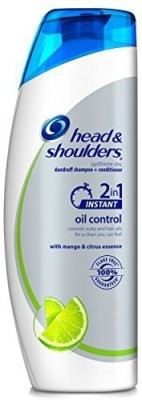 Head & Shoulders ers Instant Oil Control 2-in-1 Dandruff Shampoo Plus Conditioner, 12.8 Fluid Ounce(378 ml)