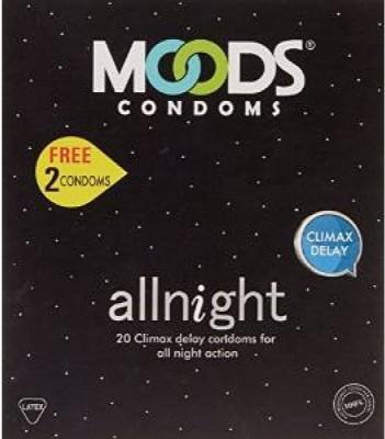 Moods All Night Condoms (Pack of 5, 100 Condoms)
