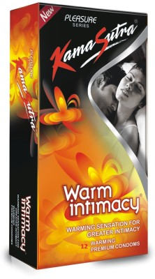 KamaSutra Warm Intimacy Warming Lubricated Plasure Series Condom(12S)  available at flipkart for Rs.110