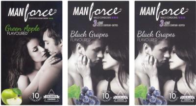 Manforce Green Apple and BlackGrape Condoms (30 Condoms)