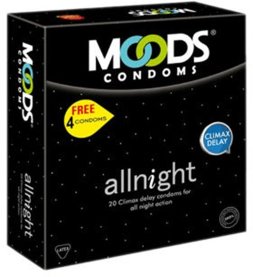 Moods All Night Condoms (20 Condoms) - Pack of 2