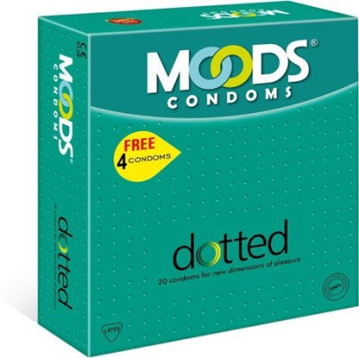 Moods Dotted 20's (Pack of 2) Condom(Set of 20, 40S)  available at flipkart for Rs.190