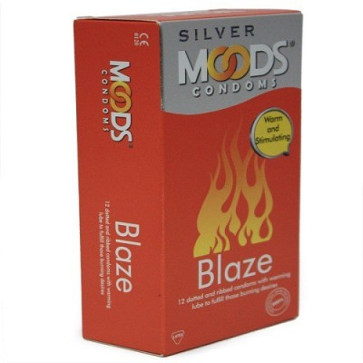 Moods BLAZE 12 DOTTED Condom Condom(12S)  available at flipkart for Rs.150