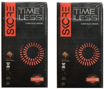 Skore Champion Series Time Less Condoms 10's x 2 Condom(Set of 2, 20S)  available at flipkart for Rs.233