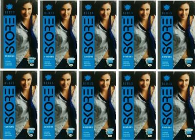 Skore Blue Condoms (100 Condoms)