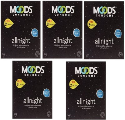 Moods All Night Dotted Condoms (100 Condoms)