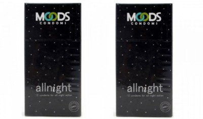 Moods All Night Condoms (24 Condoms) - Pack of 2