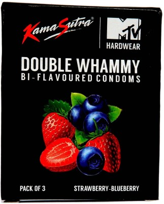 Kamasutra MTV Hardwear Strawberry and Blueberry Condoms (60 Condoms)