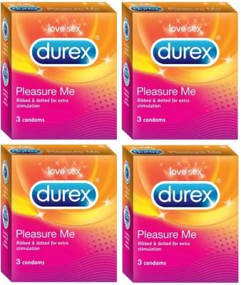 Durex Pleasure Me Condom(Set of 4, 12S)  available at flipkart for Rs.220