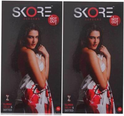 Skore NotOut Climax Delay and Long Last Condoms (20 Condoms)