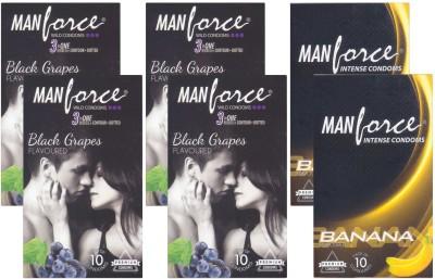 Manforce BlackGrape and Banana Condoms (60 Condoms)