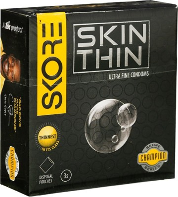 Skore Skore Champion Skin Thin Condoms 3's (Pack of 3) Condom(Set of 3, 9S)  available at flipkart for Rs.120